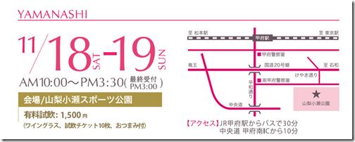 【11/18・19開催】山梨ヌーボーまつりin山梨!